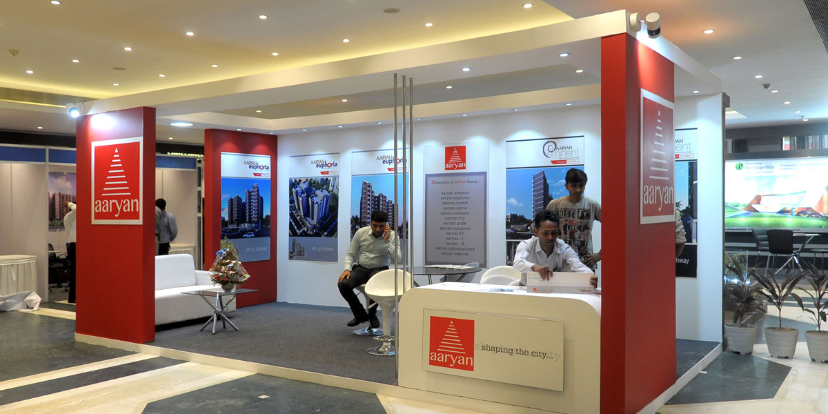 Exhibition Stall Design Ahmedabad : Aura communications exhibition stall design and