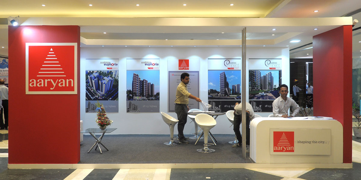 Exhibition Stall Design Company In Ahmedabad : Aura communications exhibition stall design and